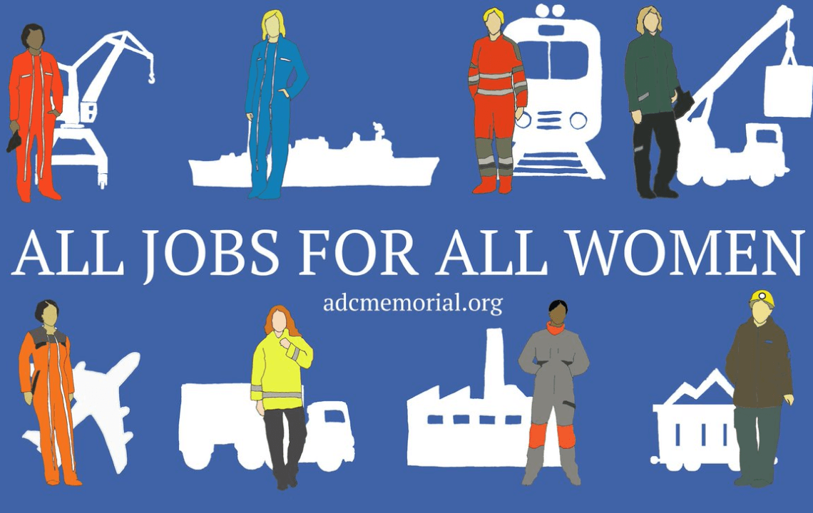 banner for All jobs for all Women campaign