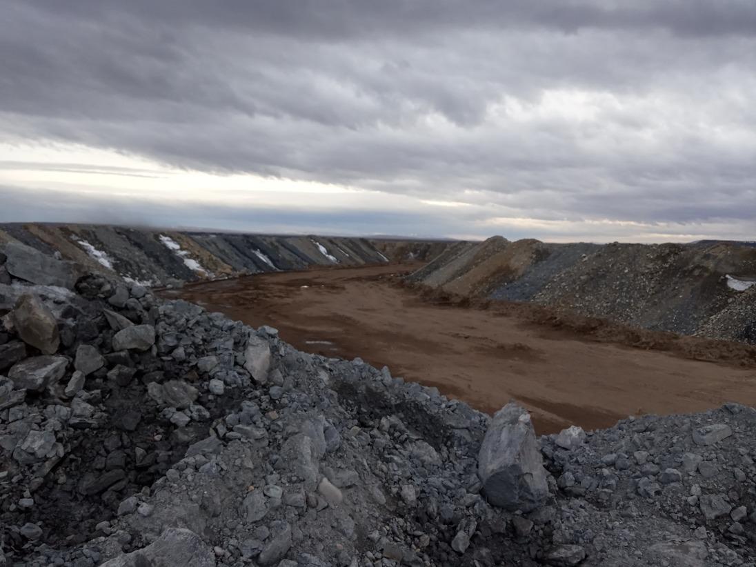 Угольные отвалы близ села Шалгинов